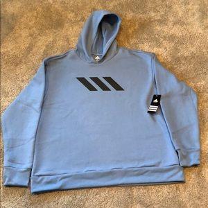 Adidas Mens 3-Stripe Performance Pullover Hoodie